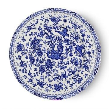 Regal Peacock Plate, 22cm, Blue
