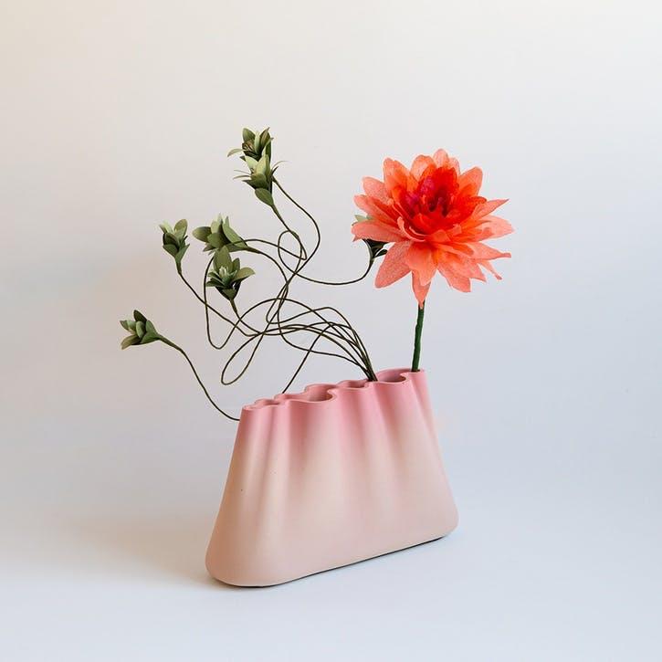 Jumony Wide Vase, Blush Pink