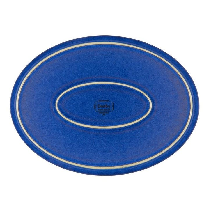 Imperial Blue Oval Platter, 37cm