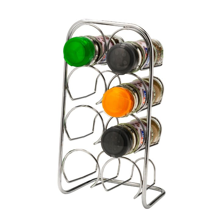 Pisa 8 Jar Spice Rack, Chrome