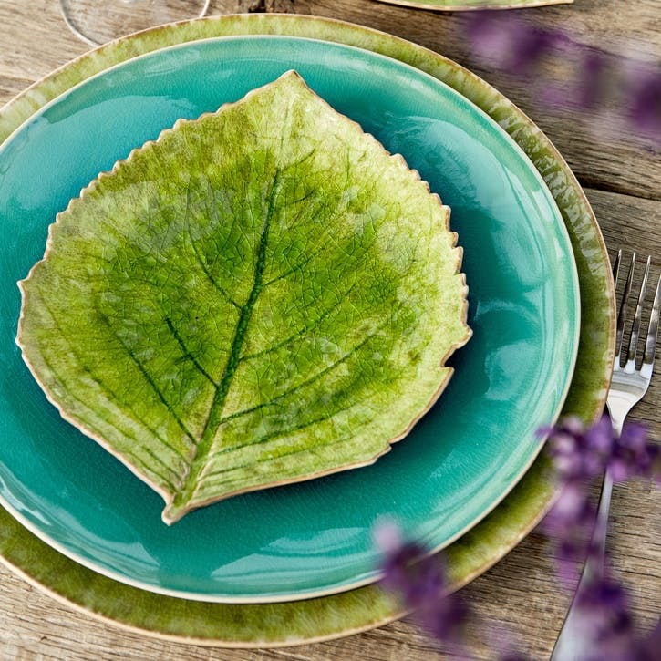 Hydrangea Leaf Plates, Set of 6
