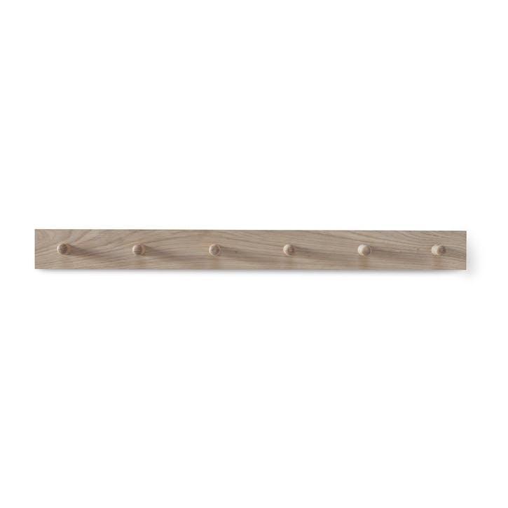 Hambledon Raw Oak Peg Rail, 6 Hooks