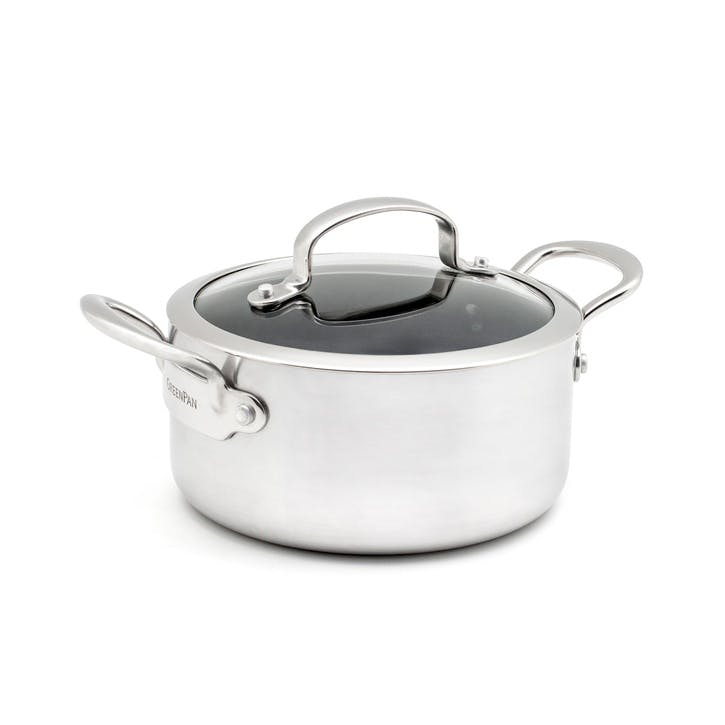 Barcelona Evershine Non-Stick Casserole with Lid - 18cm