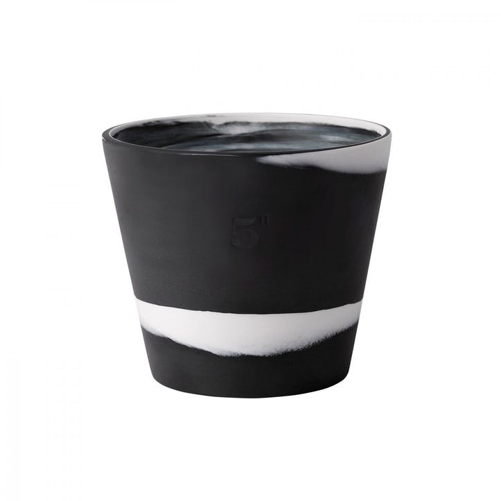 Burlington Pot White on Black Pot 5inch
