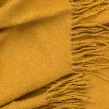 Alpaca Throw, Mustard