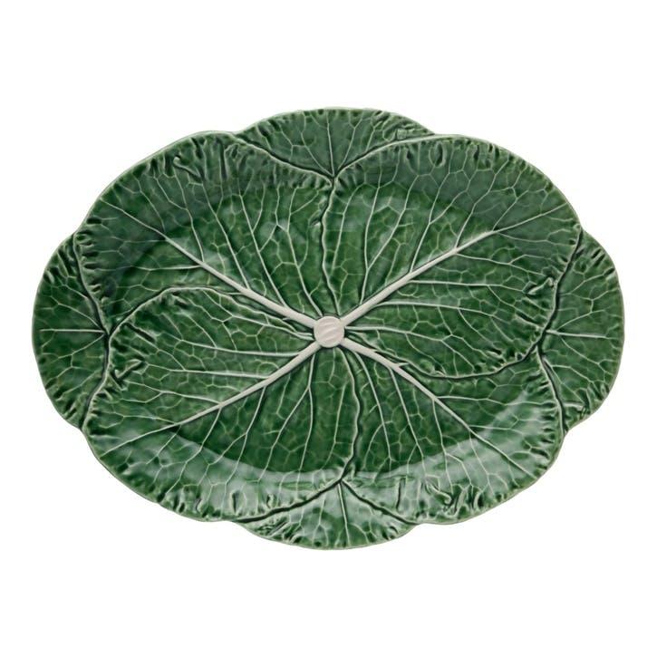 Cabbage Platter, 43cm, Green
