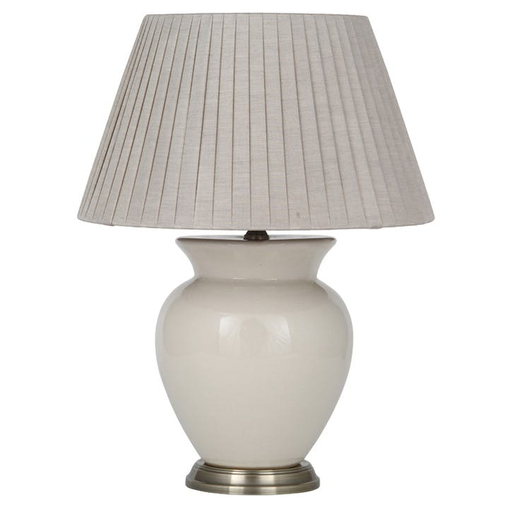 Isabel Ceramic Table Lamp, White