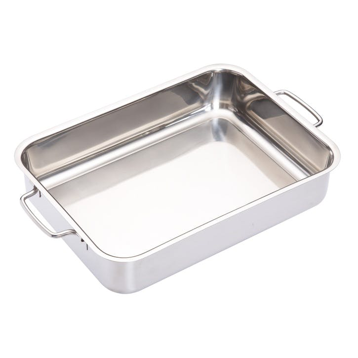 Stainless Steel Heavy Duty 32cm x 23cm Roasting Pan