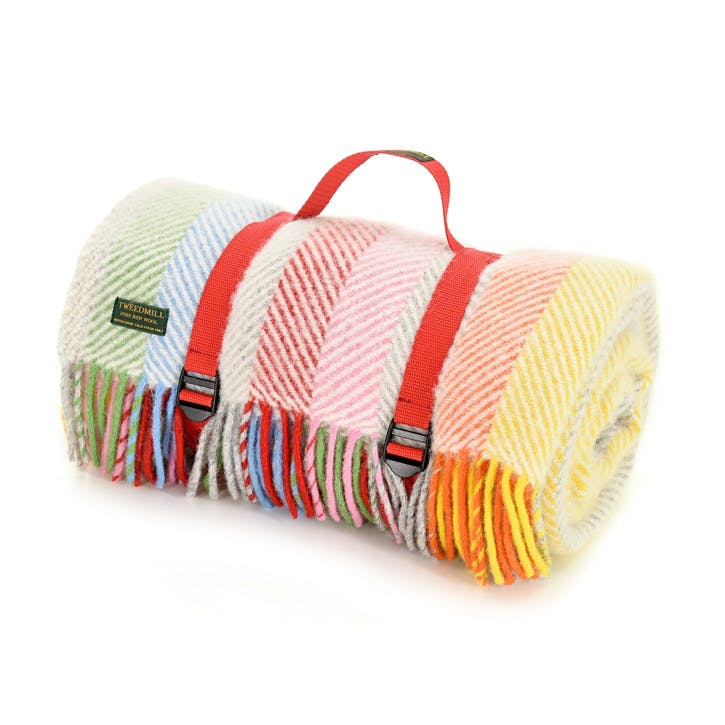 Polo Picnic Blanket, Rainbow Grey