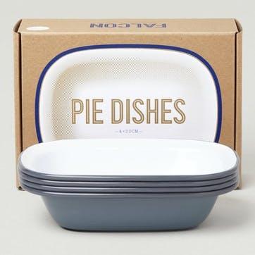 Pie Dishes, Pigeon Grey