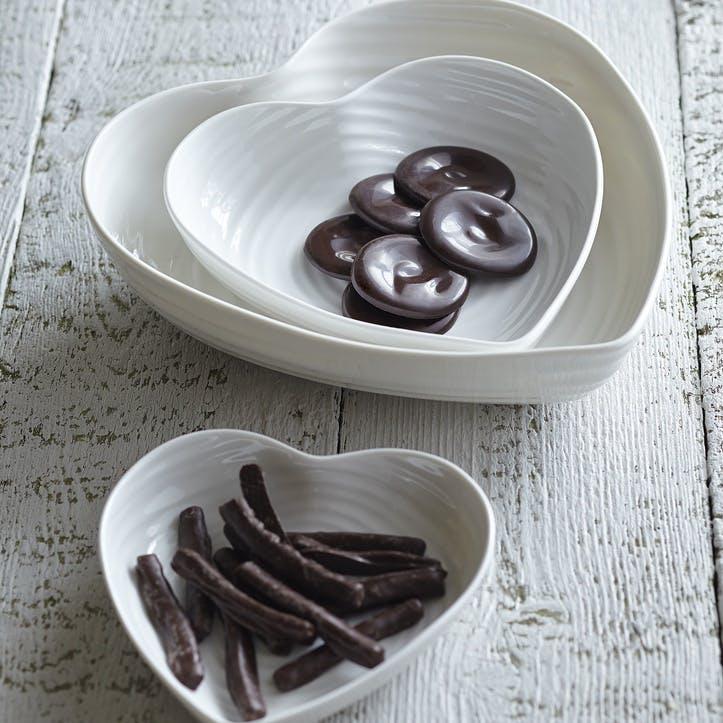 Heart Bowl - Medium; White