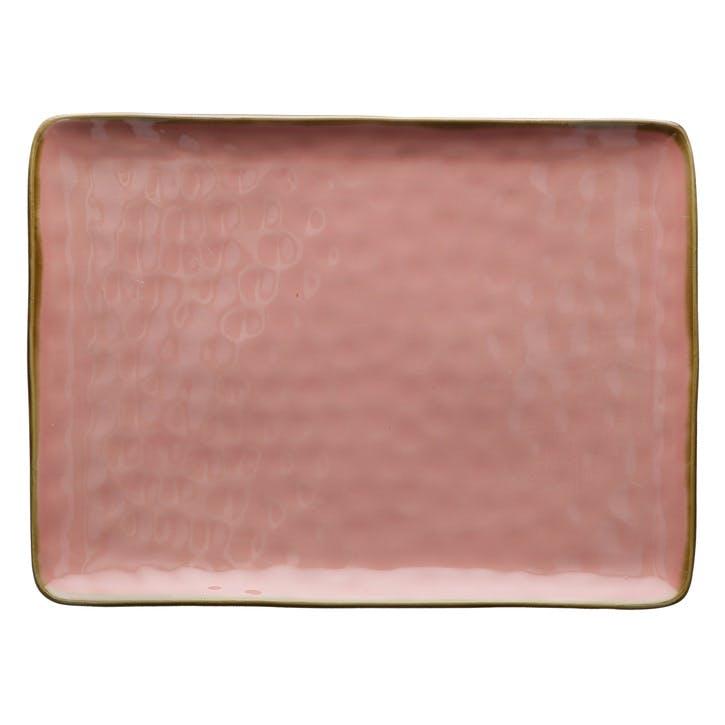 Concerto Serving Platter, Large, Pink
