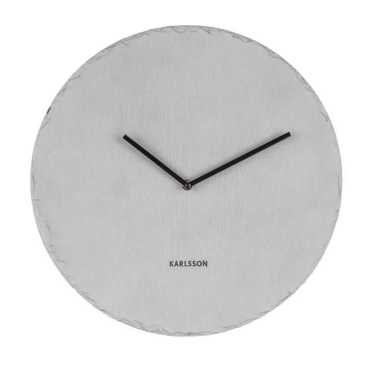 Slate Wall Clock, Grey