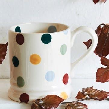 Polka Dot Mug, 1/2 Pint