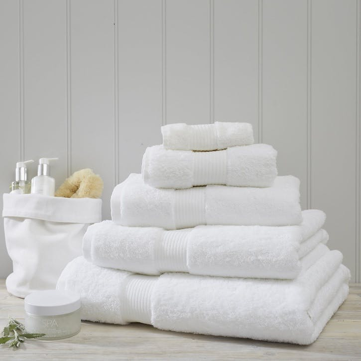 Egyptian Cotton Towel, Face Cloth, White