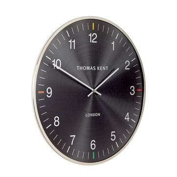 Oyster Clock, 41cm, Jet
