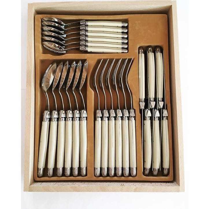 24 Piece Cutlery Set, Ivory Handle