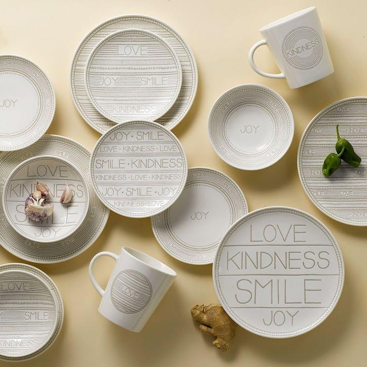 Set of 4 Plates, Accent, 21cm
