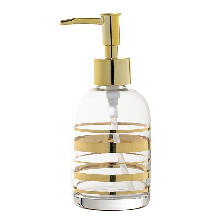Glass Soap dispenser, gold, H17xD7cm