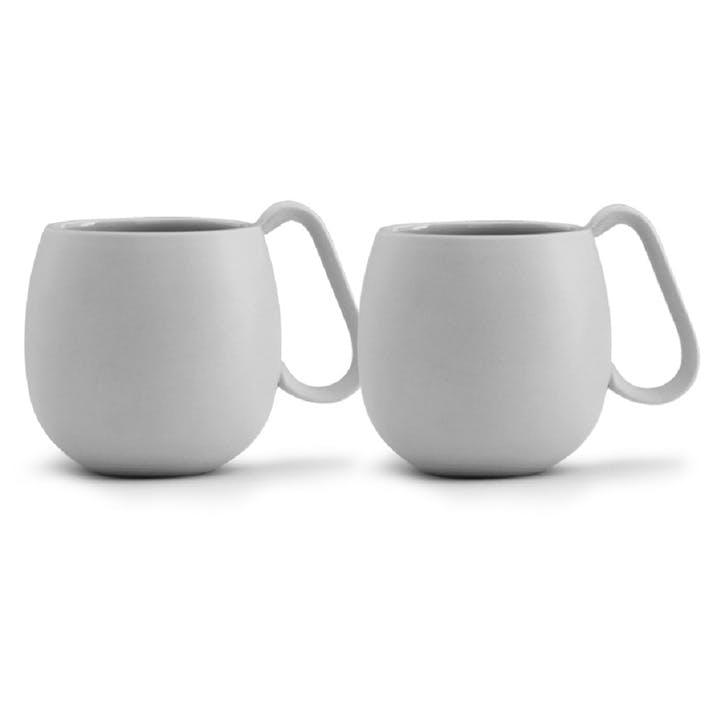 Nina Tea Mug, Set of 2, Grey
