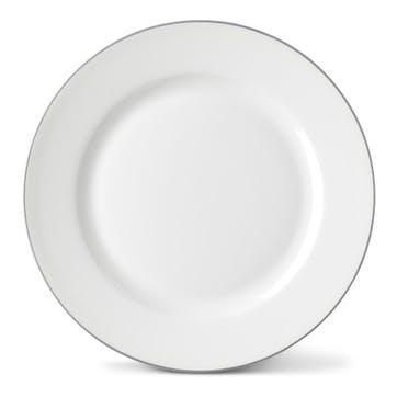 Rainbow Side Plate, Stone Grey