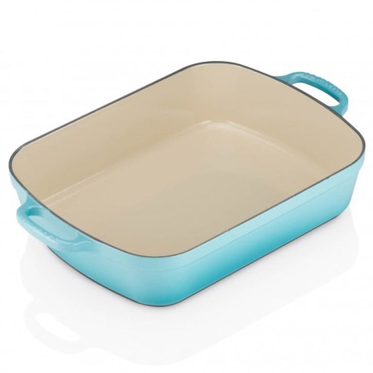 Cast Iron Rectangular Roaster - 33cm; Teal