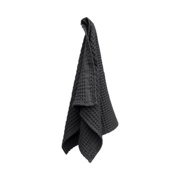 Waffle Hand Towel, L75 x W50cm, Dark Grey