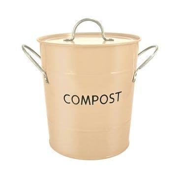 Cream Compost Pail, 3.2l