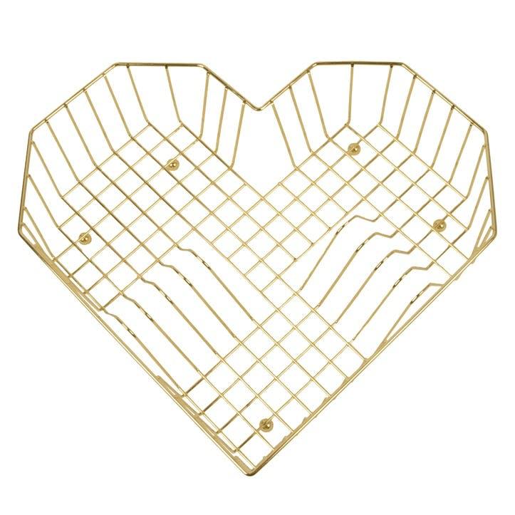 Heart Dish Rack, Gold