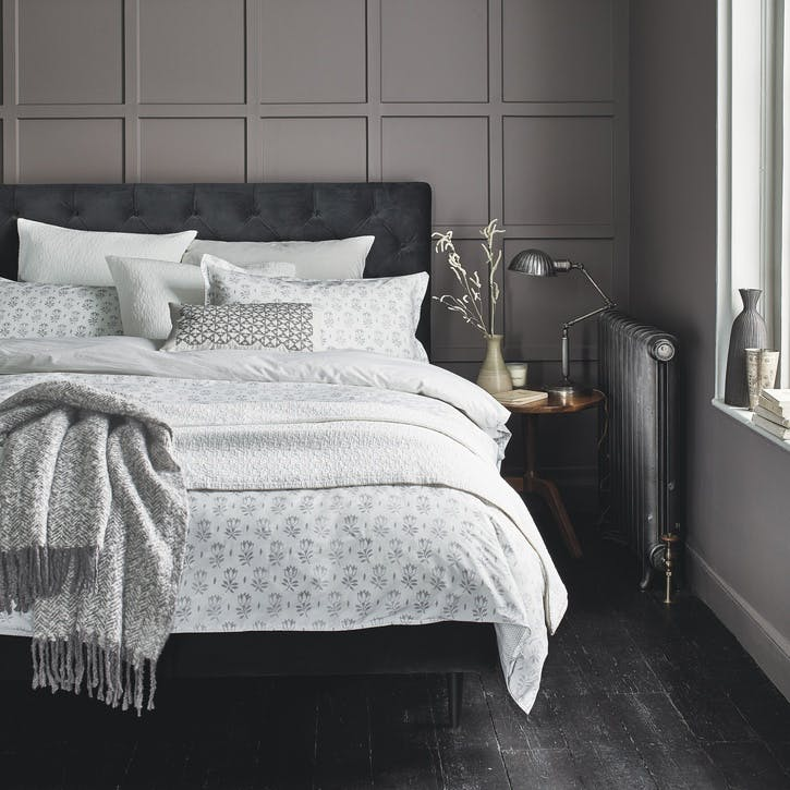 Tulip Super-King Duvet Set, Cloud Grey