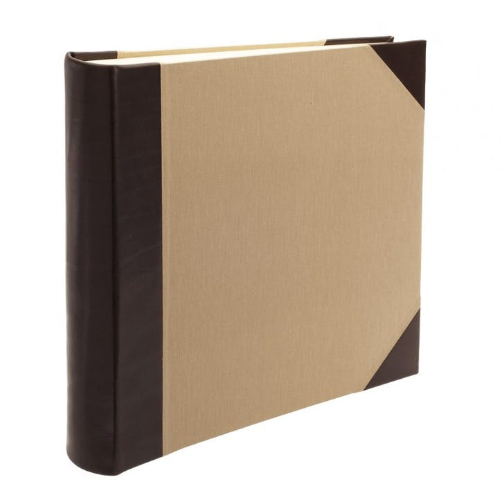 Safari Half Bound Square Photo Album, Mocha