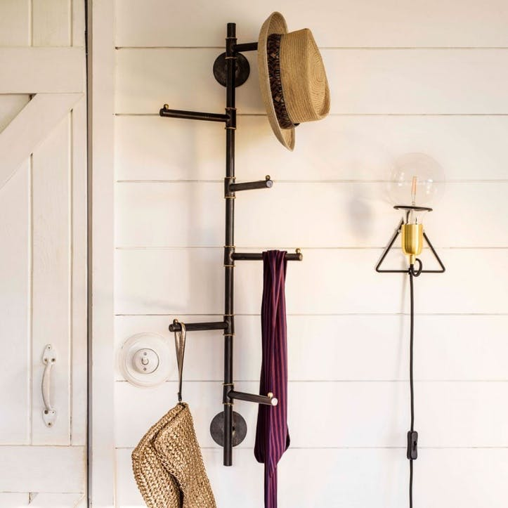 Vertical Six Prong Coat Rack