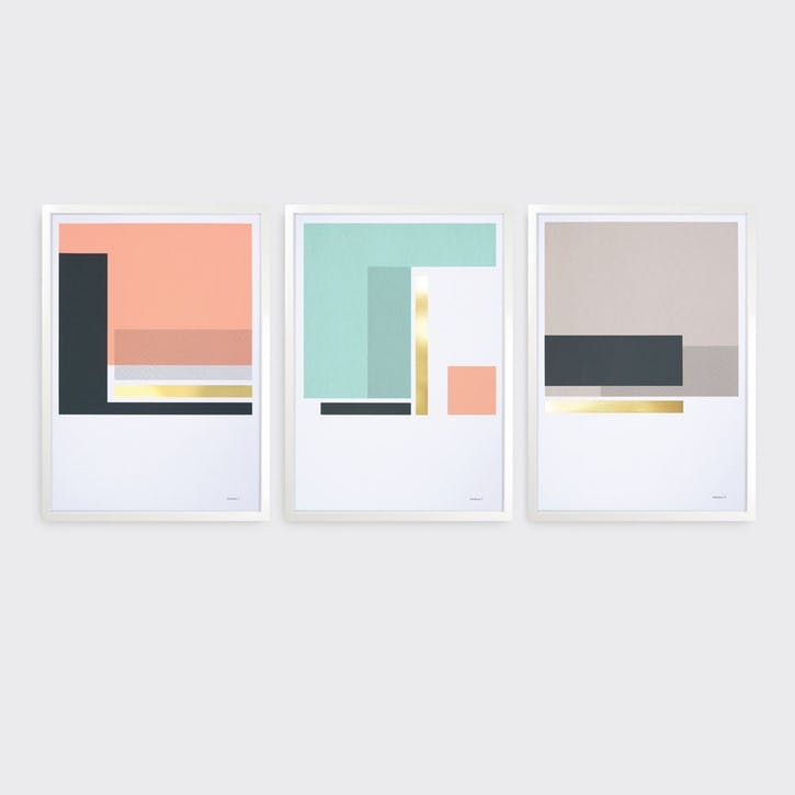 Harbours, Set of 3 Prints, H59 x L42cm