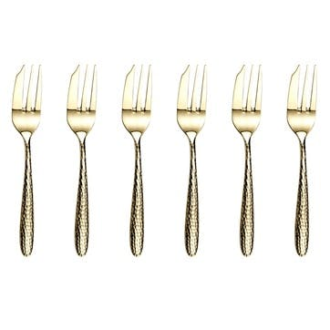 Monsoon Mirage Champagne Pastry Forks, Set of 6