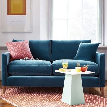 Izzy, Three Seat Sofa, Armour Smart Velvet