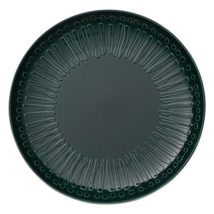 It's My Match Blossom Dinner Plate, Green