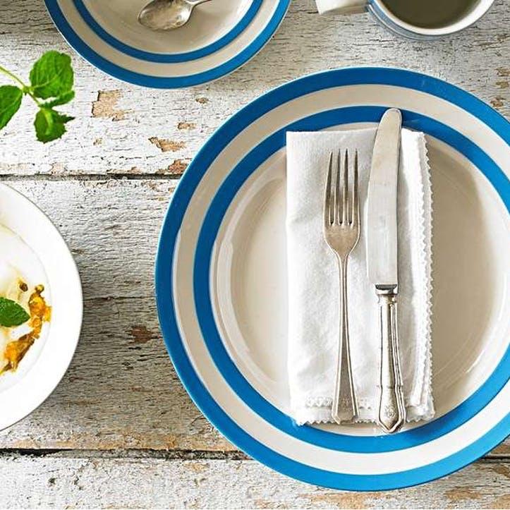 Cornish Blue Dinner Plates, Set of 4