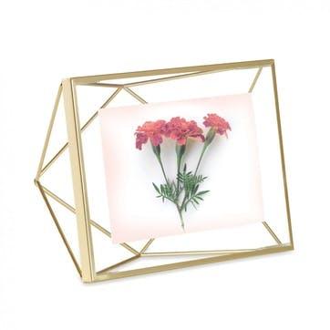 Prisma Photo Display, Landscape, 13 x 18cm, Matte Brass