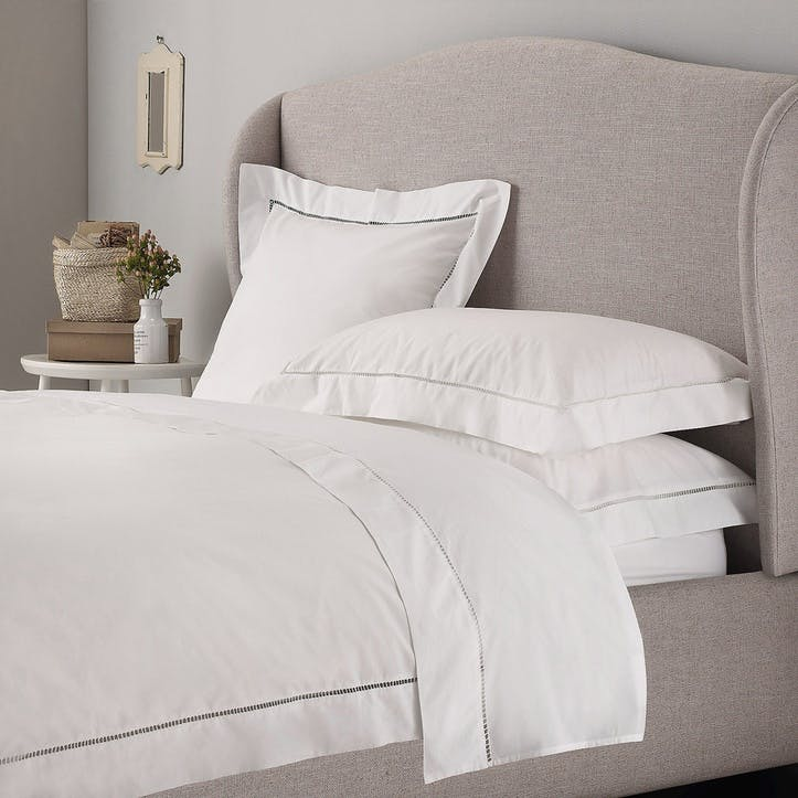 Santorini Duvet Cover, King, White