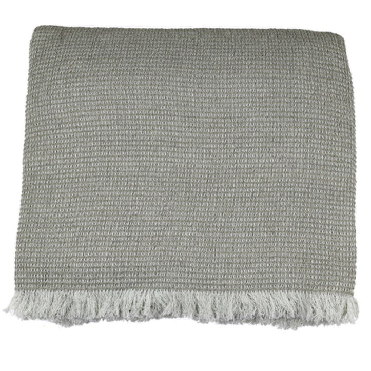 Chambray Waffle Throw, Taupe