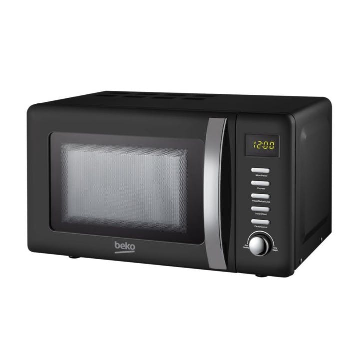 Retro Compact Microwave - 20L; Black