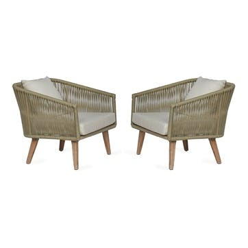 Colwell Armchairs, Set of 2