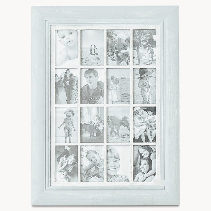16 Aperture Large Hanging Photo Frame; French Grey