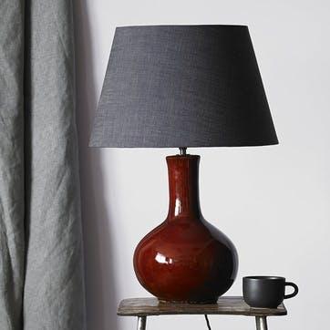 Nellie Table Lamp in an Oxblood Glaze, 34cm