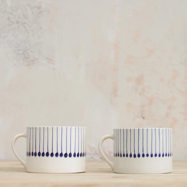 Iba Ceramic Mug - Short; Indigo