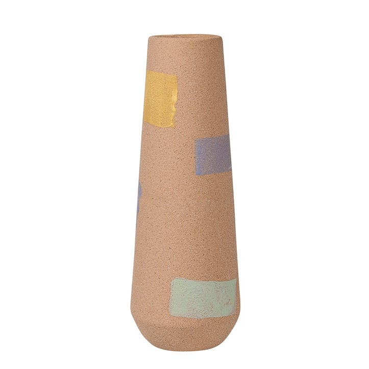 Par Ceramic Vase Tall, Multi