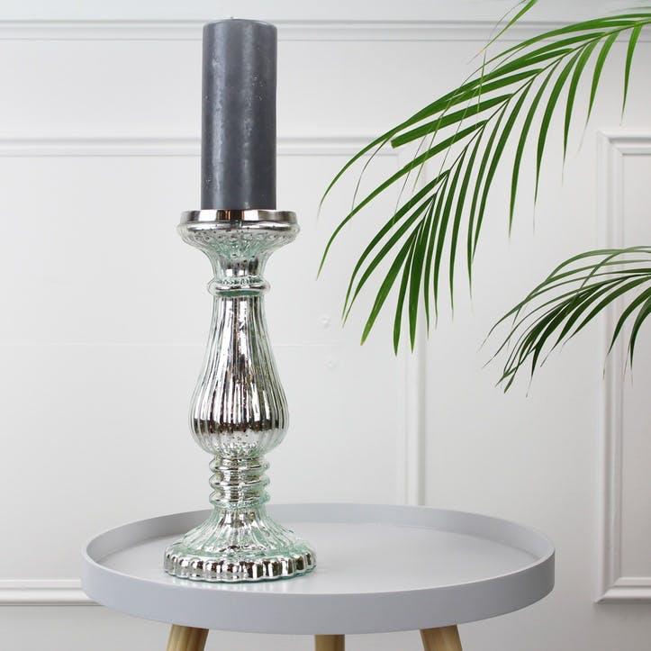 Vintage Silver Glass Candlestick