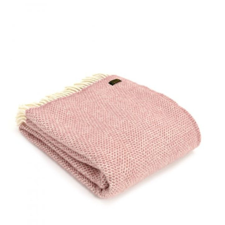 Beehive Throw; Dusky Pink