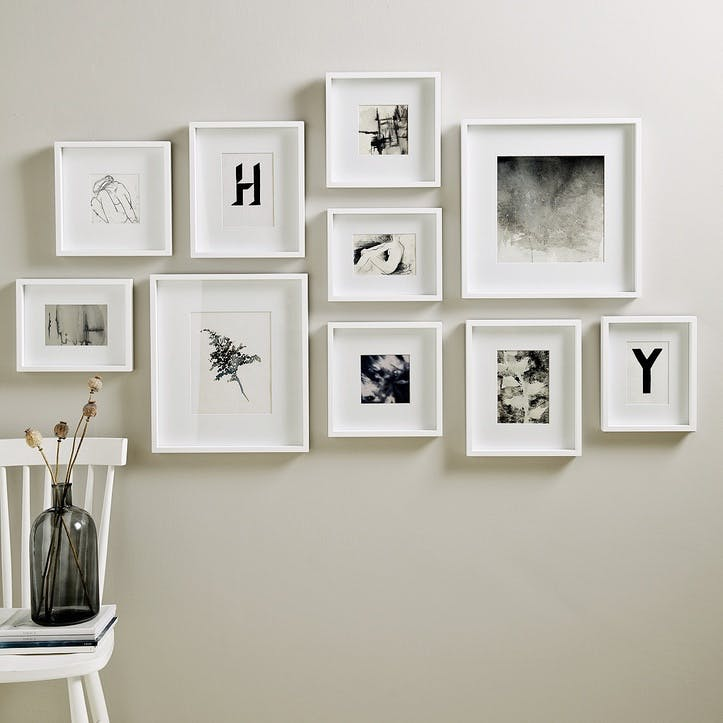 Picture Gallery Wall Frame Set Large, White