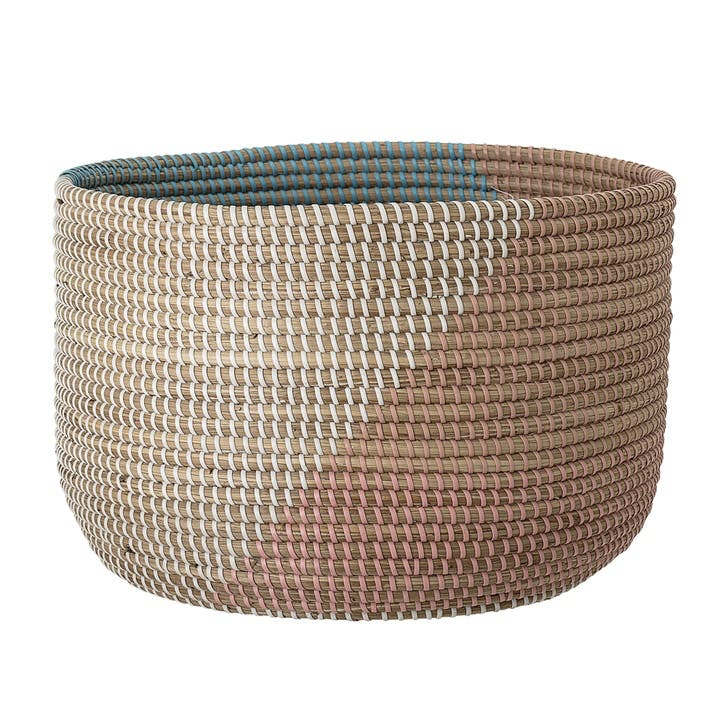 Colour Block Seagrass Basket